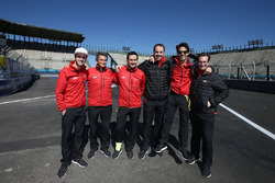 Lucas di Grassi, ABT Schaeffler Audi Sport, Daniel Abt, ABT Schaeffler Audi Sport, Jacky Eeckelaert, Gwen Bourcier, Thomas Biermaier and Franco Chiocchetti
