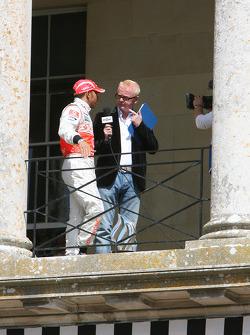 Lewis Hamilton with Chris Evans