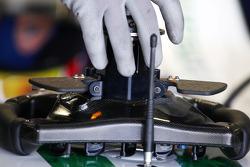 The steering wheel of Alexander Wurz, Test Driver, Honda Racing F1 Team