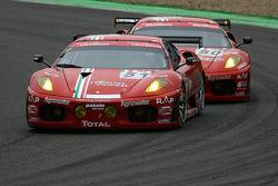 #51 AF Corse Ferrari F430: Thomas Biagi, Christian Montanari, Dominik Farnbacher, Matias Russo, #50 AF Corse Ferrari F430: Gianmaria Bruni, Toni Vilander, Jaime Melo, Mika Salo