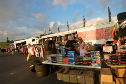 Watkins Glen fan fest: merchandising for sale