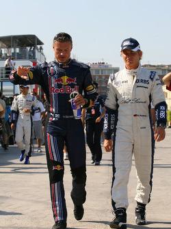 David Coulthard, Red Bull Racing and Nico Rosberg, WilliamsF1 Team