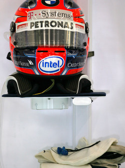 Helmet of Robert Kubica, BMW Sauber F1 Team
