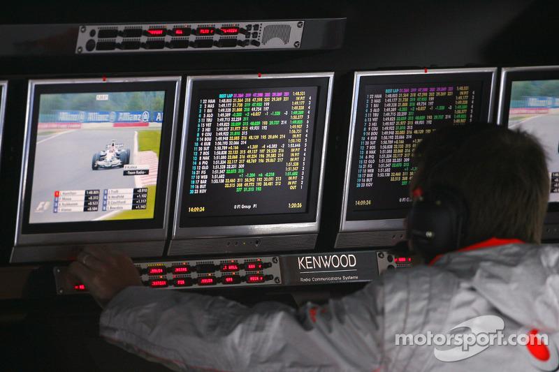 McLaren Mercedes pitboard