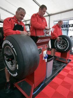 The Bridgestone team at work