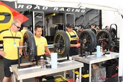 Dunlop crew members at work