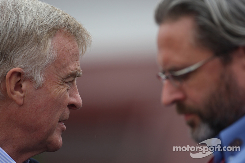 Max Mosley, FIA President and Richard Woods, FIA