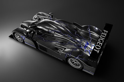 Studio shot for the hybrid Peugeot 908 HDi FAP, the Peugeot 908 HY