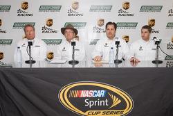 UPS/Roush Fenway Racing press conference: Jimmy Fenning, Jack Roush, David Ragan, and Ron Rogowski