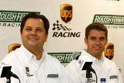 UPS/Roush Fenway Racing press conference: Ron Rogowski, director of sponsorship for UPS, and David Ragan