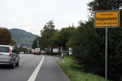 Sebastian Vettel's home town visit in Heppenheim, Germany: road signs