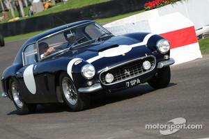Stirling Moss and Ferrari 250 GT SWB