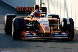 Michael Woodcock (GB) WB Racing, F1 Arrows A21 Hart 3.0 V10 (anciennement conduite par J. Verstappen)
