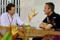 Team principal Christian Horner and team manager Jonathan Wheatley