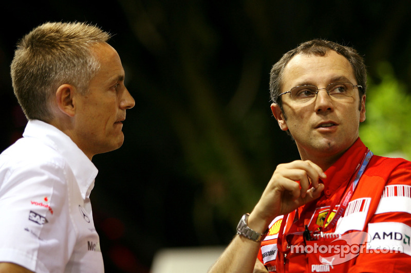 Martin Whitmarsh, McLaren, Teamchef; Stefano Domenicali, Scuderia Ferrari, Sportdirektor