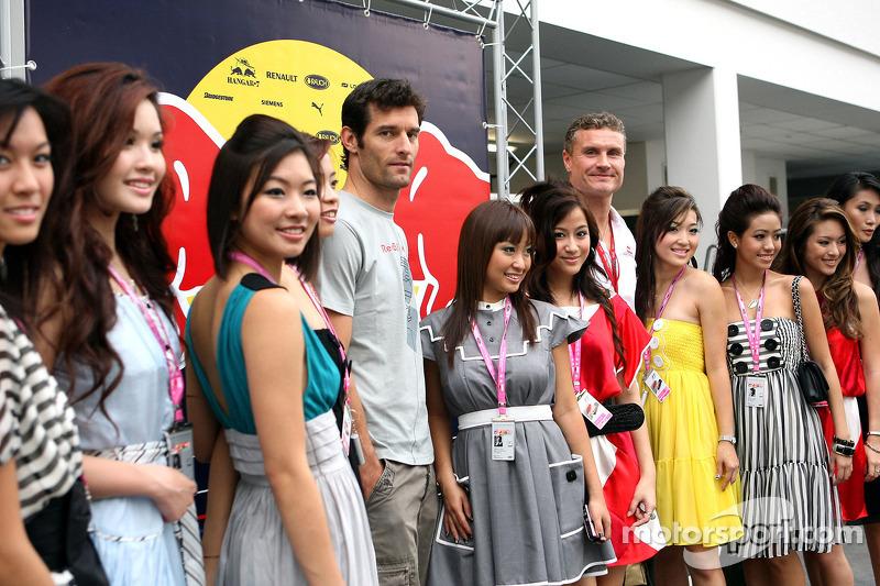 Mark Webber und David Coulthard mit reizender Begleitung
