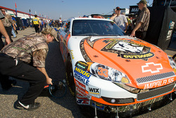 Driven to the Outdoors Chevy in tech inspection line