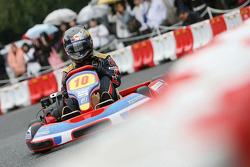 Kart Race in Jingu Gaien, Sebastian Vettel, Scuderia Toro Rosso and Sébastien Bourdais, Scuderia Toro Rosso