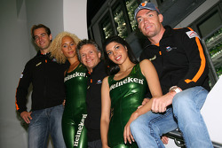 Jeroen Bleekemolen, driver of A1 Team Netherlands with Jan Lammers, Seat Holder A1 Team Netherlands and Robert Doornbos, driver of A1 Team Netherlands