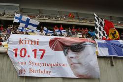 Banners for Kimi Raikkonen, Scuderia Ferrari, birthday