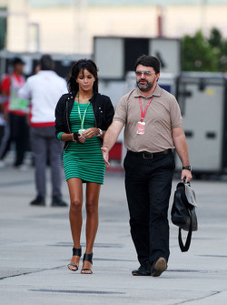 Raquel Rosario Wife of Fernando Alonso and and Luis Garcia Abad, Manager of Fernando Alonso