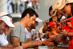 Rubens Barrichello, Mark Webber and Jenson Button
