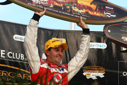 Podium: Jamie Whincup wins all three races on the Gold Coast