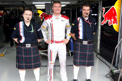 Tim Maylon, David Coulthard and Guillaume Roquelien