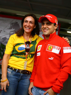 Felipe Massa and his mother Ana Helena