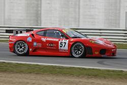 #57 Kessel Racing Ferrari 430: Henri Moser, Marcello Zani