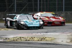 #1 Vitaphone Racing Team Maserati MC 12: Andrea Bertolini, Michael Bartels, #50 AF Corse Ferrari F430: Toni Vilander, Gianmaria Bruni