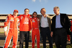 Kimi Raikkonen, Stefano Domenicali, Felipe Massa, Luca di Montezemolo and Piero Ferrari
