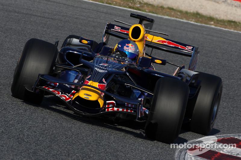 Себастьян Льоб на тестах у складі Red Bull, 2008 рік