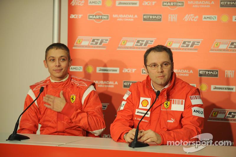 Valentino Rossi and Stefano Domenicali