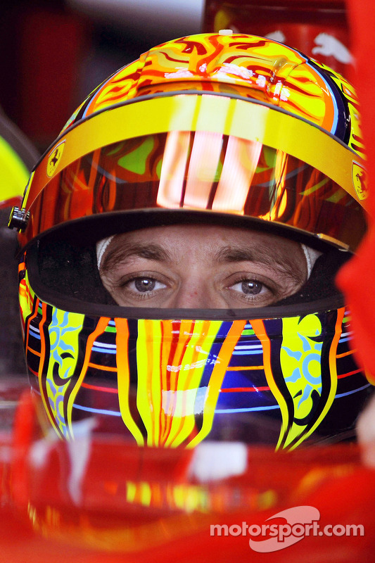 Valentino Rossi in the Ferrari F2008