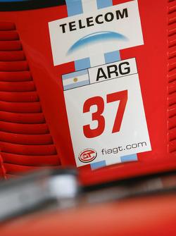 #37 ACA Argentina Ferrari 550 Maranello car detail