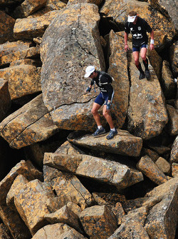 Launceston, Australia: competitors climb down from the summit of Cradle Mountain