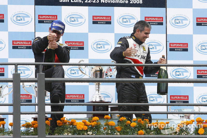 GT2 podium: class winners Matias Russo and Luis Perez Companc
