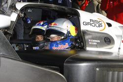 Stéphane Sarrazin and Sébastien Loeb in the Peugeot Sport Total Peugeot 908