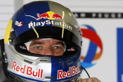 Sébastien Loeb gets ready for his solo drive in the Peugeot Sport Total Peugeot 908