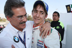 Third place Esteban Gutierrez with Dr. Mario Theissen