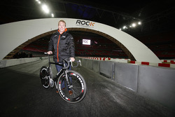 Beijing Olympic Gold Medallist Chris Hoy on track