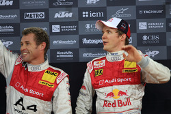 Podium: Nations Cup second place Mattias Ekström and Tom Kristensen (Team Scandinavia)