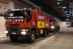 Rally Raid UK trucks at scrutineering