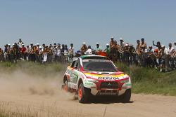 Le #303 Mitsubishi Racing Lancer: Luc Alphand et Gilles Picard