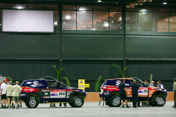 X-raid team at scrutineering
