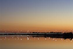 Sunset colors over Daytona and Lake Lloyd