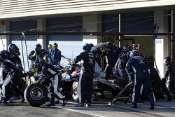 Kazuki Nakajima, Williams F1 Team, practices pitstops