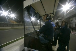 The Barwa International Campos Grand Prix team watch the action