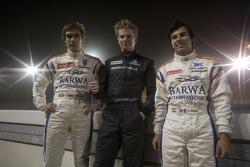 Nico Hulkenberg, Sergio Perez and Vitaly Petrov